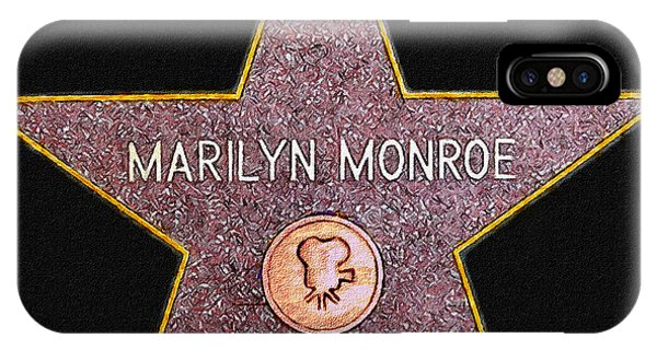 Marilyn Monroe's Star Painting  IPhone Case