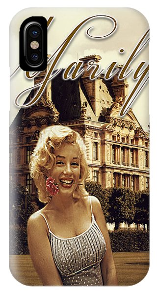 Marilyn Paris Monroe IPhone Case
