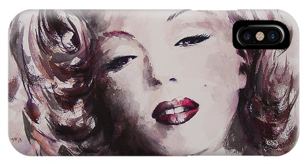Child Actress iPhone Case - Marilyn by Rachel Christine Nowicki