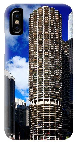 Marina City Corncob Tower IPhone Case