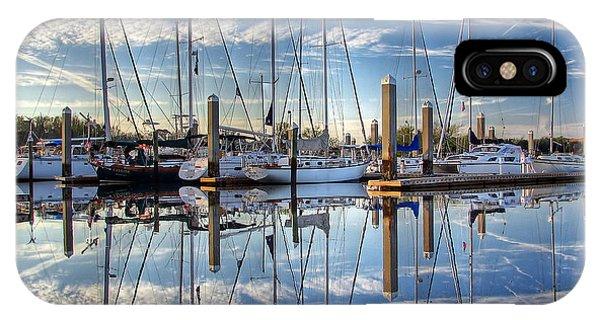 Marina Morning Reflections IPhone Case