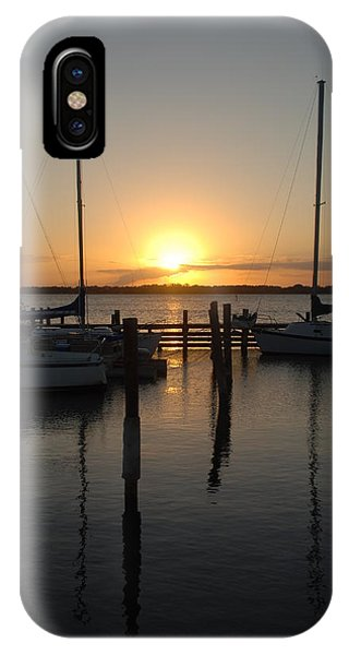 Marina Sunset 2 IPhone Case