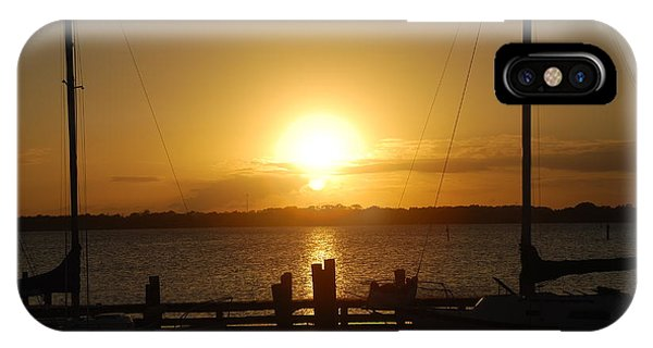 Marina Sunset IPhone Case