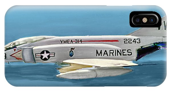 Marine F-4 Phantom  Painting IPhone Case