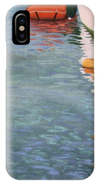 IPhone Case featuring the pastel Marine Reflections by Serena Dawson