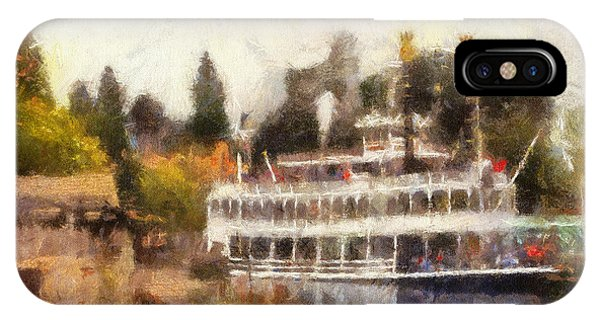 Mark Twain Riverboat Frontierland Disneyland Photo Art 02 IPhone Case