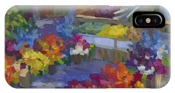 Neighborhood iPhone Case - Market Day by Diane McClary
