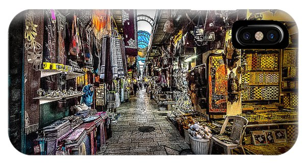 Market In The Old City Of Jerusalem IPhone Case