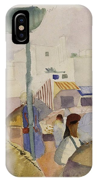 Impressionistic iPhone Case - Market In Tunis II by August Macke