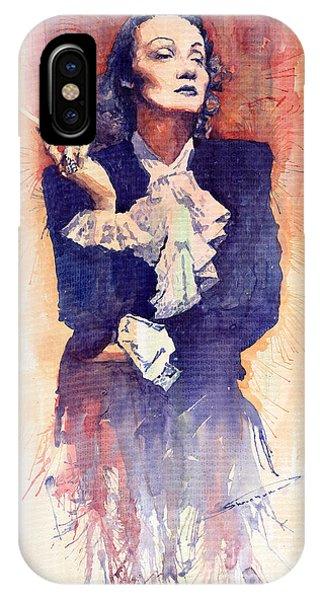 Portret iPhone Case - Marlen Dietrich  by Yuriy Shevchuk