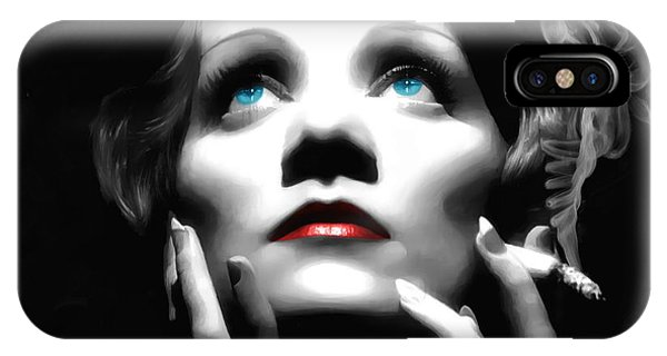 Marlene Dietrich Portrait IPhone Case