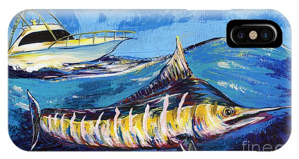 Midnite iPhone Case - Marlin At Sea by Lovejoy Creations