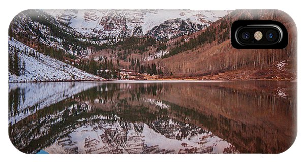 Bell iPhone Case - Maroon Bells Alpenglow by Darren  White