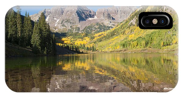 Maroon Bells In Autumn IPhone Case