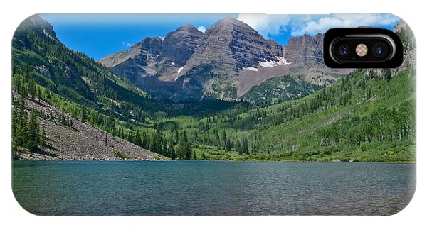 IPhone Case featuring the photograph Maroon Bells by Jeff Loh