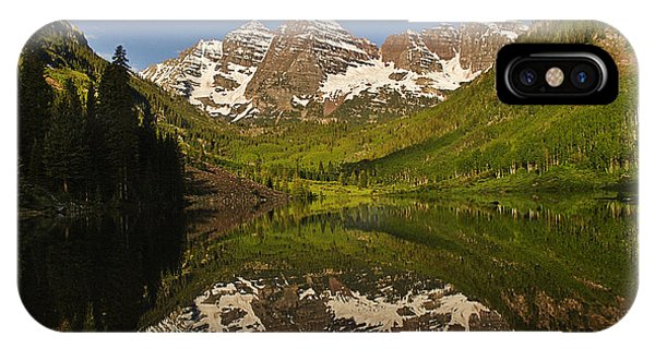 Maroon Bells Reflection Summer IPhone Case