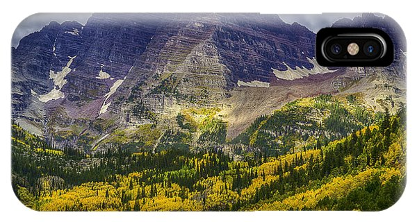 IPhone Case featuring the photograph Maroon Bells by Bitter Buffalo Photography