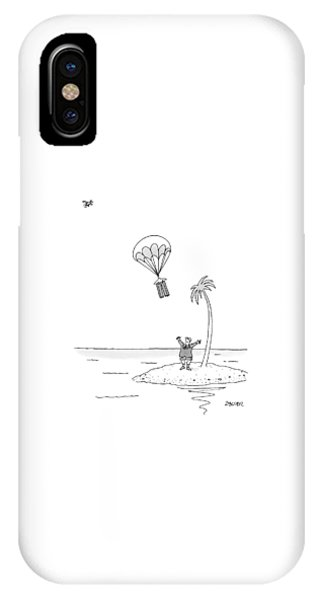 Shipwreck iPhone Case - Marooned On An Island by Jack Ziegler