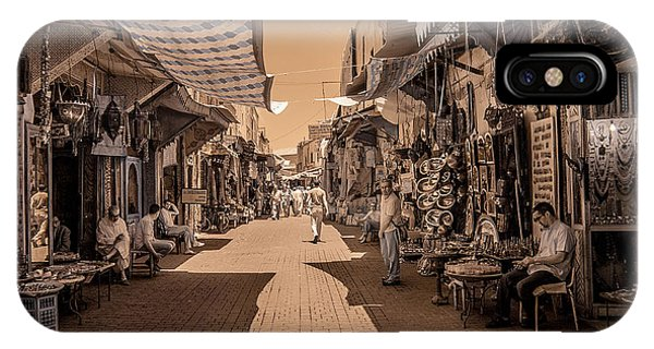 Marrackech Souk At Noon IPhone Case