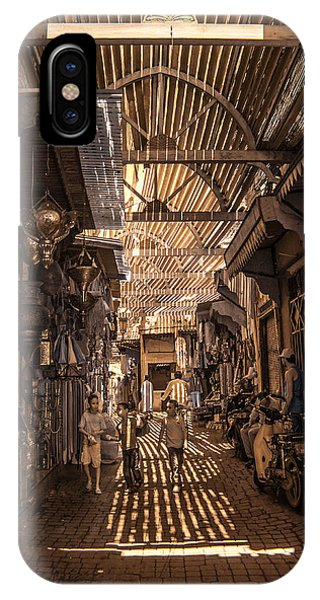 Marrakech Souk With Children IPhone Case