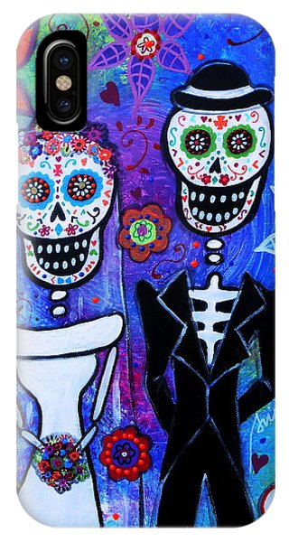 Married Couple Dia De Los Muertos IPhone Case
