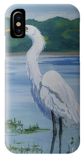 Marsh Land Egret IPhone Case