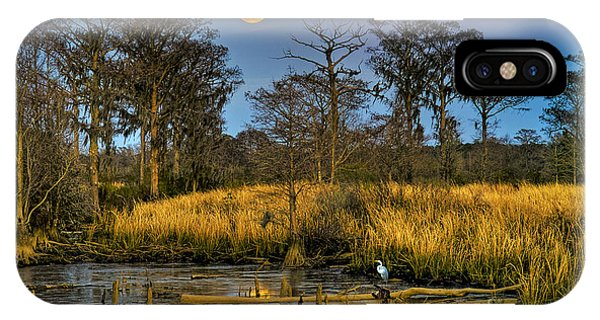 Pawleys Island Marsh Moon IPhone Case