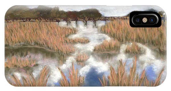 Marsh Reflections Phone Case by Cristel Mol-Dellepoort