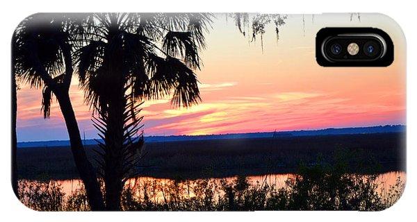 Marsh Sunset 2 IPhone Case