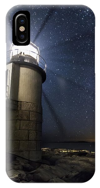 Marshall Lighthouse And The Night Sky IPhone Case