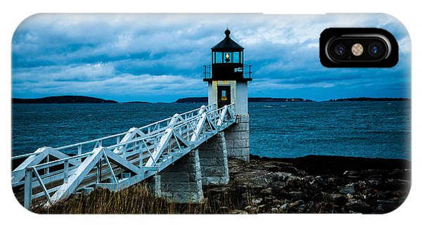 Marshall Point Light At Dusk 2 IPhone Case
