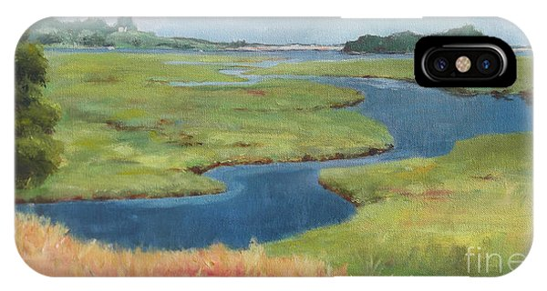 Creek iPhone Case - Marshes At High Tide by Claire Gagnon