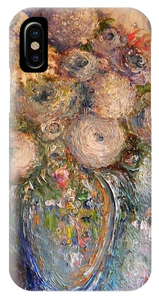 IPhone Case featuring the painting Marshmallow Flowers by Laurie Lundquist