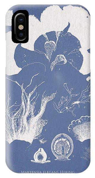 Alga iPhone X Case - Martensia Elegans Hering by Aged Pixel