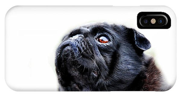 Pug iPhone X Case - Martha by Mark Rogan