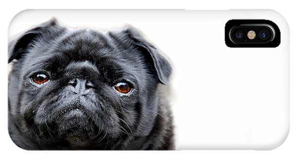 Pug iPhone X Case - Martha Pug by Mark Rogan