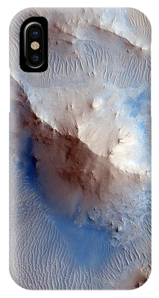 Uplift iPhone Case - Martian Crater Uplift by Nasa/jpl/university Of Arizona/science Photo Library