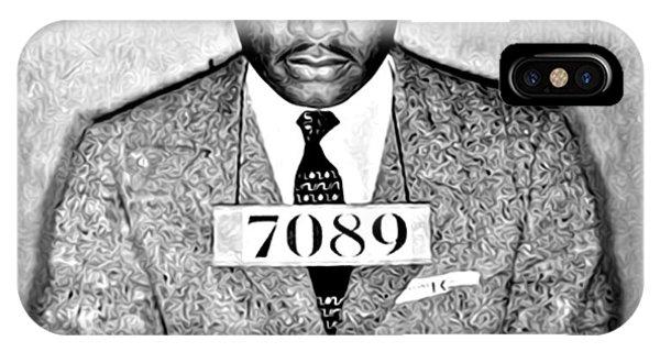 Martin Luther King Mugshot IPhone Case