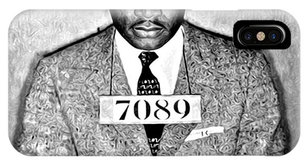 Martin iPhone Case - Martin Luther King Mugshot by Digital Reproductions