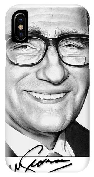 Graphite iPhone Case - Martin Scorsese by Greg Joens