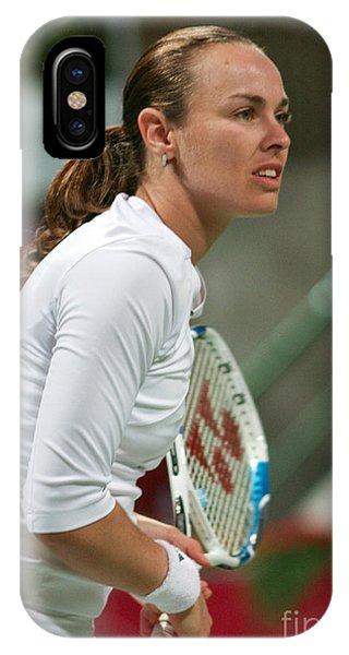 Martina Hingis In Doha IPhone Case