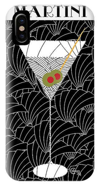 1920s Martini Cocktail Art Deco Swing   IPhone Case