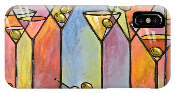 Martini Bar ... Abstract Alcohol Art IPhone Case