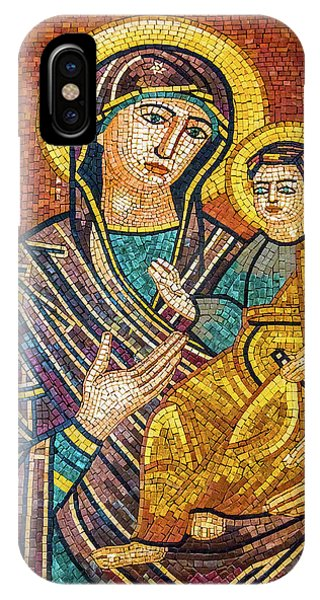 New Testament iPhone Case - Mary And Jesus Mosaic, Saint George's by William Perry