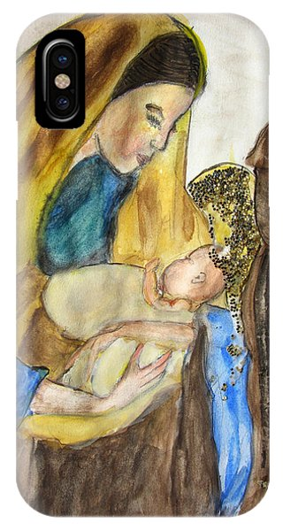 Mary Baby Jesus And St Anthony IPhone Case