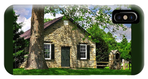 Maryland Country Churches - Fairview Chapel-1a Spring - Established 1847 Near New Market Maryland IPhone Case