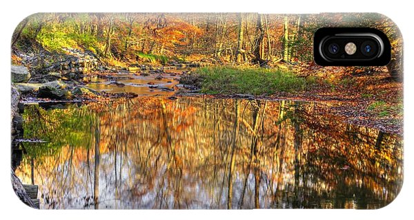 Catoctin Mountain Park iPhone Case - Maryland Country Roads - Moments For Reflection No. 1 - Cunningham Falls State Park Autumn by Michael Mazaika