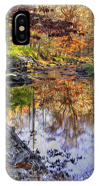 Catoctin Mountain Park iPhone Case - Maryland Country Roads - Moments For Reflection No. 2 - Cunningham Falls State Park Autumn by Michael Mazaika