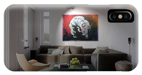 Marylin Monroe In The Living Room Phone Case by Ri Mo