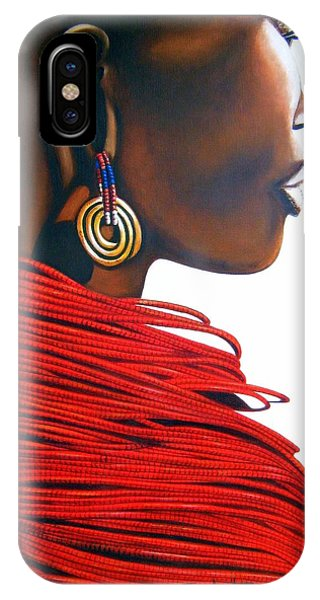 Masai Bride - Original Artwork IPhone Case